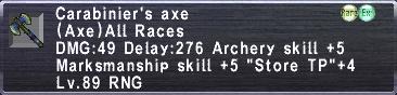 Carabinier's Axe