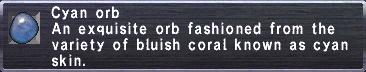 Cyan Orb