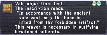 Vale Abjuration Feet