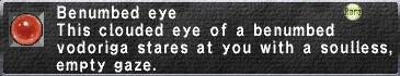 Benumbed eye