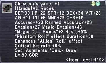 Chasseur's Gants +1
