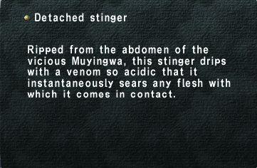 Detached stinger