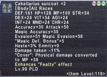 Caballarius surcoat +2