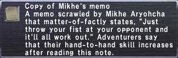 Mikhe's Memo