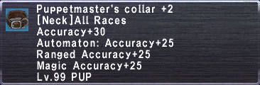 Puppetmaster's Collar +2