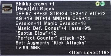 Bhikku Crown +1