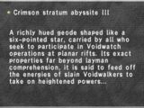 Crimson Stratum Abyssite III