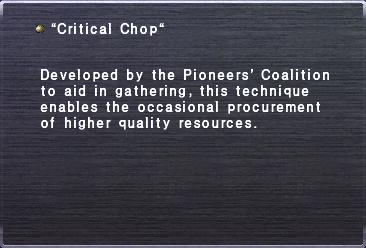 Critical chop