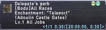 Delegate's Garb