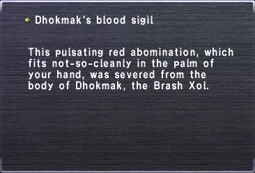 Dhokmak's Blood Sigil