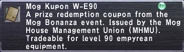 Kupon W-E90