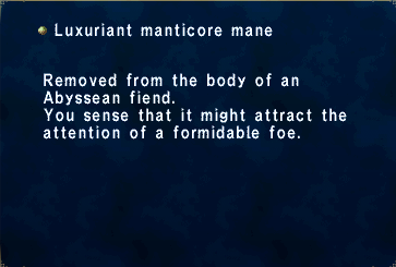 Luxuriant Manticore Mane