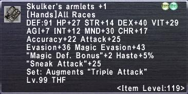 Skukler's Armlets Plus 1