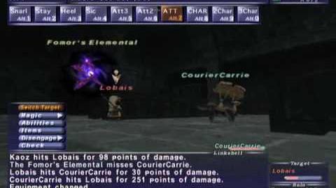 FFXI NM Saga 188 Lobais vs BST solo (Full Battle)