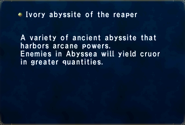 Ivory abyssite of the reaper