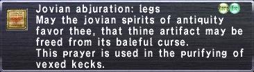 Jovian Abjuration Legs