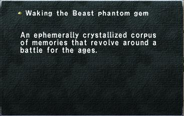 Waking the Beast phantom gem