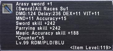 Arasy Sword Plus 1