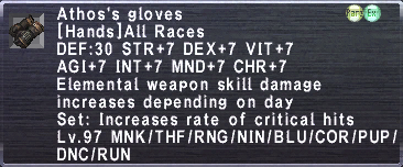 Athos's Gloves
