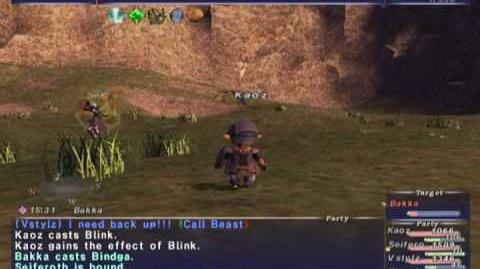 FFXI NM Saga 194 Bakka vs BSTs Full Battle