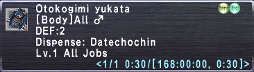 Otokogimi Yukata