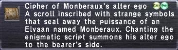 Cipher Monberaux