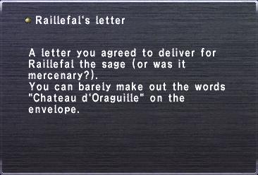 Raillefal's letter