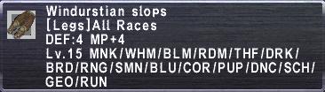 Windurstian Slops