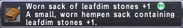 Worn Sack (LD+1)