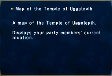 Key Item Map of the Temple of Uggalepih