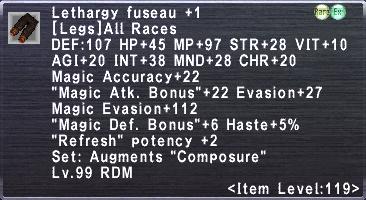 Lethargy Fuseau +1