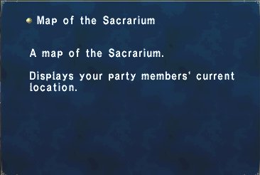 Map of the Sacrarium