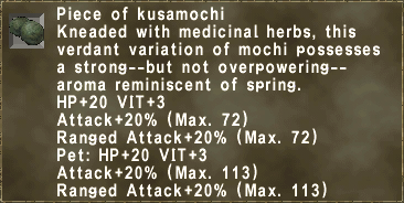Piece of kusamochi