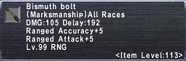 Bismuth Bolt