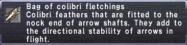 Colibri fletchings