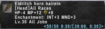 Eldritch-Horn-Hairpin