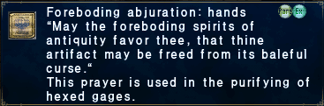 Foreboding Abjuration Hands