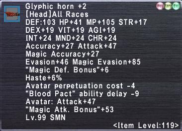 Glyphic horn +2