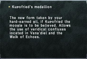 Kupofried's Medallion