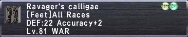 Ravager's Calligae