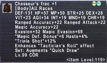 Chasseur's Frac +1