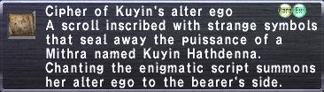 Cipher Kuyin
