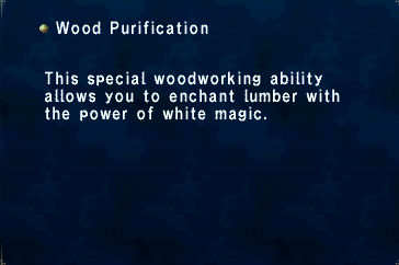 Key Item Wood Purification