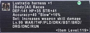 Lustratio Harness +1
