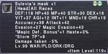 Sulevia's Mask +1