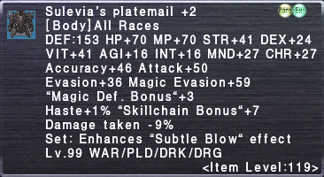 Sulevia's Platemail +2