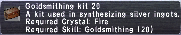 Goldsmithing Kit 20