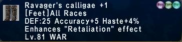 Ravager's Calligae 1