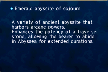 Emerald abyssite of sojourn