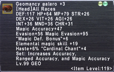 Geomancy Galero +3